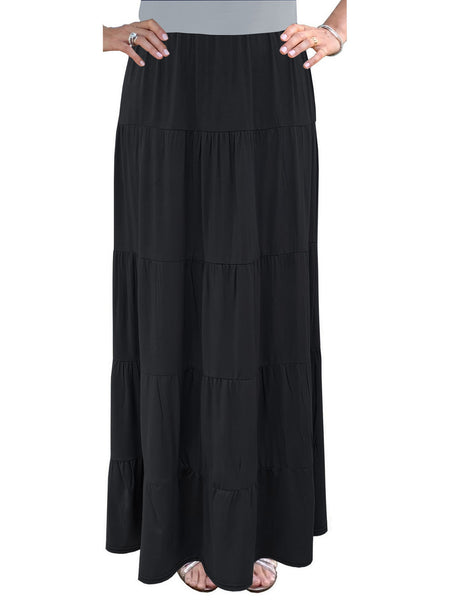 Women's Tiered Boho Maxi Skirt
