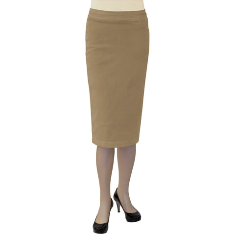 Women's Stretch Plush Corduroy Pencil Skirt