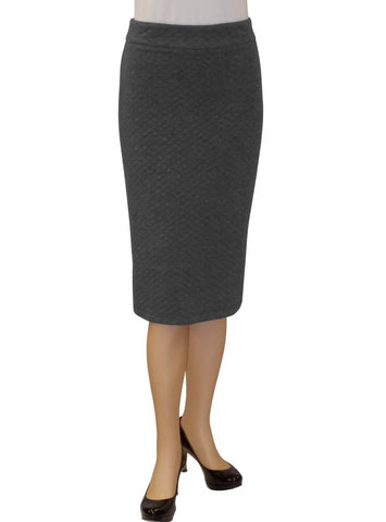 Women's Tapered Quilted Pattern Pencil Skirt