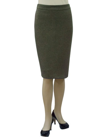 Women's Tapered Fit Stretch Melange Ponte Pencil Skirt