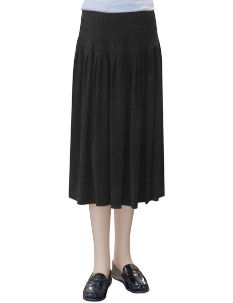 Women's Original BIZ Style Below the Knee Length Stretch Knit Skirt