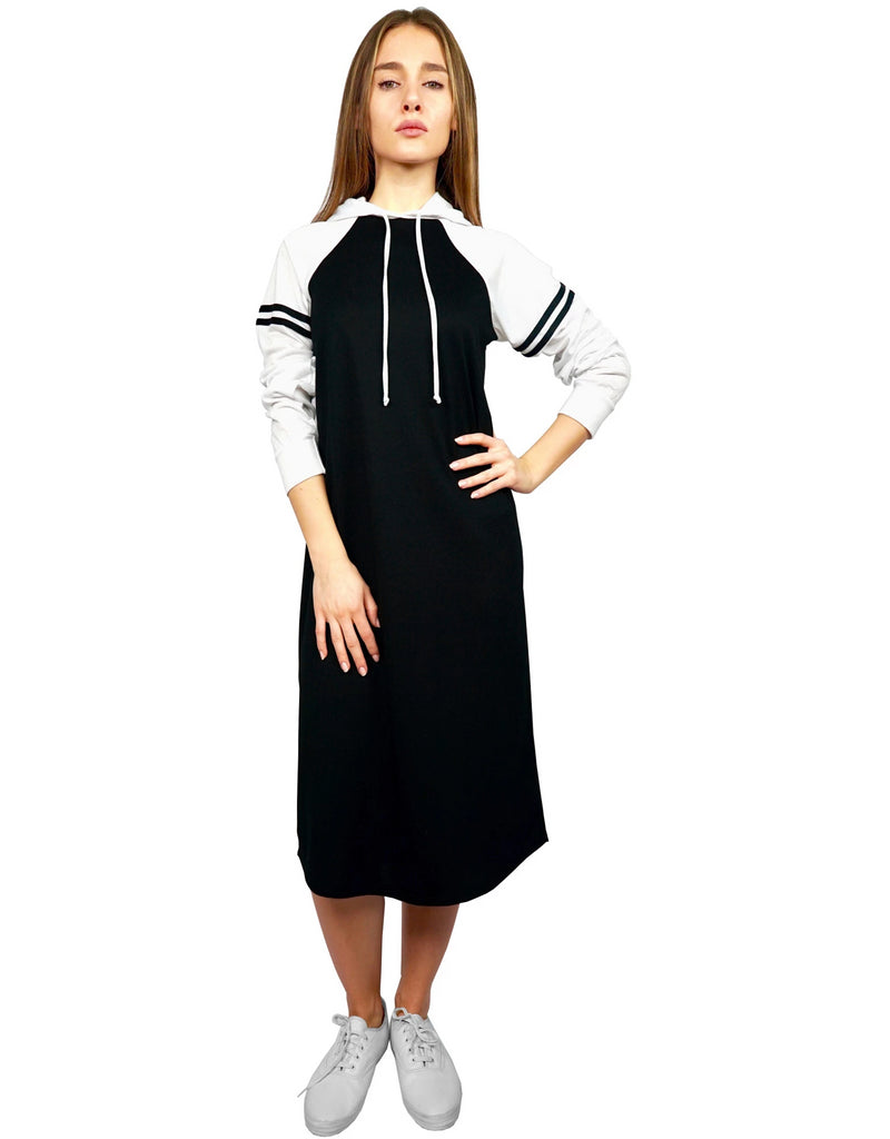 d6cfafbac3b Women s Athletic Color Blocked Hoodie Dress – Baby O Clothing Co.
