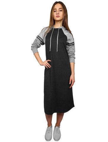 Women's Athletic Color Blocked Hoodie Dress