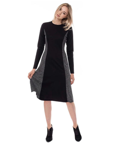 super flattering fitted below the knee length a-line Modest dress