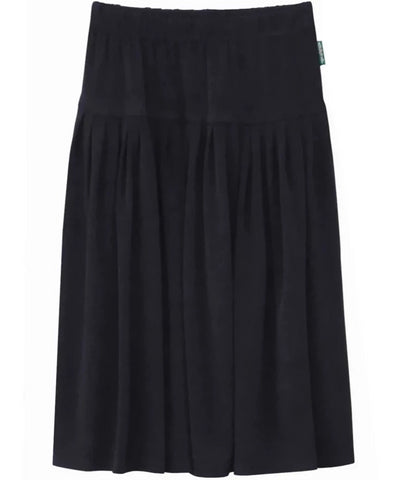 Girl Biz Style Below the Knee Length ITY Slinky Knit Skirt Black