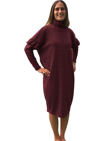Baby'O Women's Brushed Rib Knit Cozy Dress