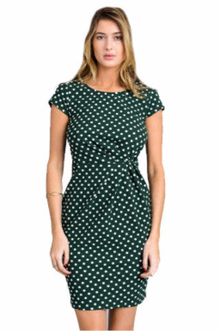cefcac7d83 Green and White Polka Dot Short Dress - Glamline TT