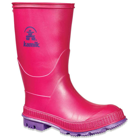 Kamik Kids Stomp Pink & Purple Rainboots Wellies Size 2