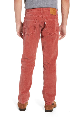 Levi's Mens 511 3476 Slim Fit Red Corduroy Fashion Pants Size 33 x 32
