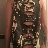 Urban Outfitters Womens Bleach Ripped Graphic Tank By Urban Renewal Size Small - Designer-Find Warehouse - 4