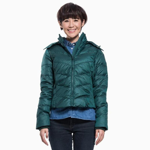 Levi's Womens Hunter Green Removable Hood Puffer Zip Down Coat Size Small - Designer-Find Warehouse - 1