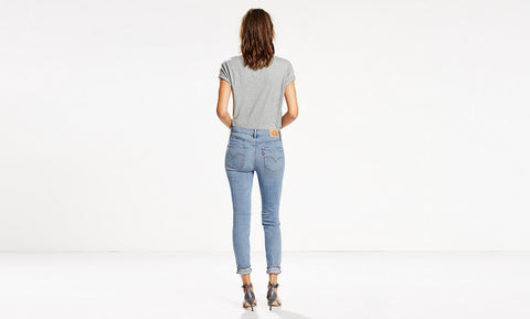 Levi's 721 0009 Womens Light Blue Wash Slim Skinny Jean Size 12 / 31 X 32 - Designer-Find Warehouse - 4