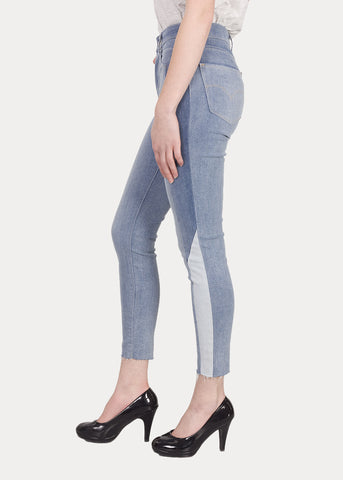 Levi's 721 0037 Womens Colorblock High Rise Skinny Ankle Jean Size 6S / 28