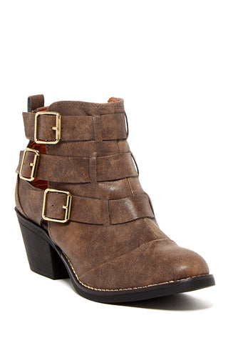 REPORT Aydin Leather Ankle Booties Boots Size 10 - Designer-Find Warehouse - 1