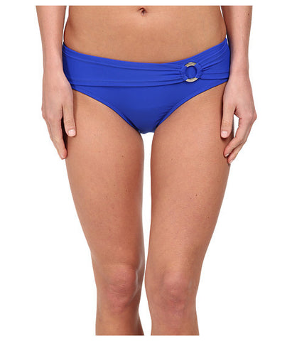 Body Glove Blue Smoothies Contempo Belted High Waist Bottoms Size Large - Designer-Find Warehouse - 1