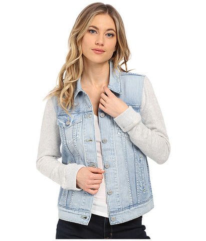 Levi's Womens Boyfriend Fleece Hybrid Trucker Jean Jacket Size Small - Designer-Find Warehouse - 1