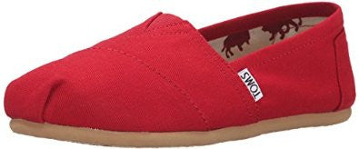 TOMS Womens Red Canvas Slip-On Shoes Size 5.5 - Designer-Find Warehouse - 1
