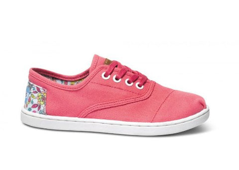 Toms Youth 10001285 Pink Inked Heel Patch Youth Cordones Shoes Size 3 - Designer-Find Warehouse - 1