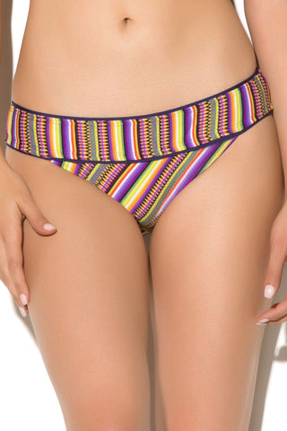 Lucky Brand Womens Purple Banded Hipster Bikini Bottoms Size M - Designer-Find Warehouse - 1