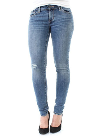 Levi's Womens 711 Skinny 0010 Star Gaze Wash Slim Skinny Stretch Denim Jeans Size 33 X 34 - Designer-Find Warehouse - 1