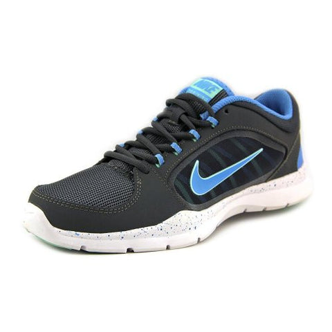 Nike Flex Trainer 4 Dark Grey Medium Mint University Blue Running Shoes Size 8 - Designer-Find Warehouse - 1