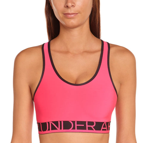 Under Armour Ladies Alpha Sports Bra Pink Shock Size Small