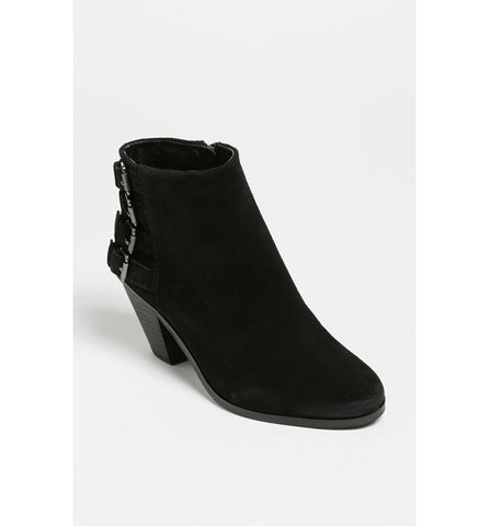 Sam Edelman Black Suede Lucca Booties Boots Size 8 - Designer-Find Warehouse - 1