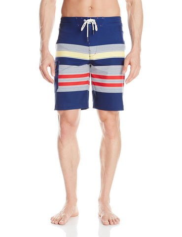 Sperry Top-Sider Mens Navy Sea Port Stripe Boardshorts Size 32 - Designer-Find Warehouse