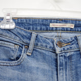 Levi's 721 0072 Womens Cut Off Blue Wash High Rise Skinny Jean Size 2S / 26 x 28