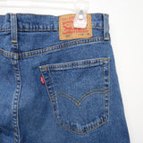 Levi's Mens 502 0363 Regular Taper Fit Medium Blue Fashion Denim Jeans Size 34 x 30