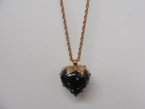 Black Strawberry Pendant Necklace - Designer-Find Warehouse - 1