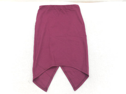 Kush Maroon Asymmetrical Cut Pencil Skirt Size Medium - Designer-Find Warehouse - 1