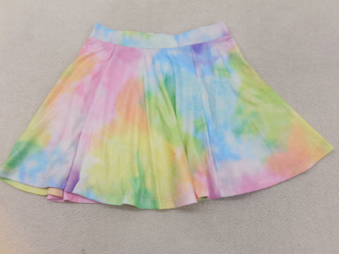Sherbet Rainbow Tie Dye Skater Skirt Size Medium - Designer-Find Warehouse - 1