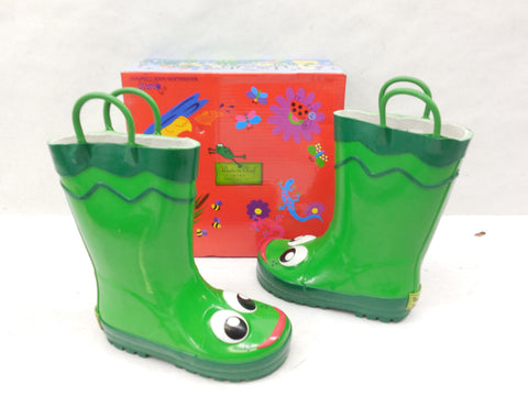 Western Chief Green Frog Rubber Rainboots Wellies Size 8 - Designer-Find Warehouse - 1