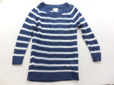 Levi's Striped Open Knit Long Sleeve Sweater Size Small - Designer-Find Warehouse - 1