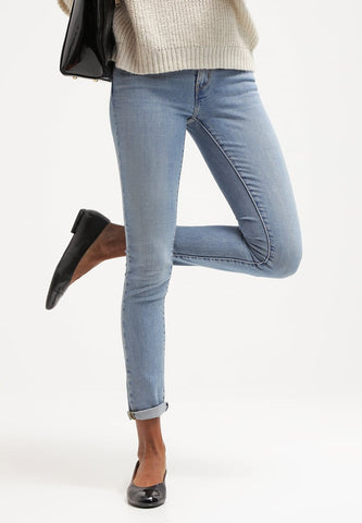Levi's Womens 711 0065 Skinny Light Wash Slim Denim Jeans Size 28 X 32 - Designer-Find Warehouse - 3