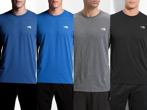 THE NORTH FACE Mens  Reaxion Vaporwick Crewneck Athletic T-Shirts