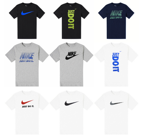 Nike Mens Just Do It Swoosh Graphic Logo Tee T-Shirt
