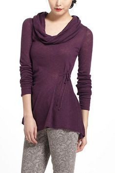 Anthropologie Plum Rosie Neira Jemima Cowl Neck Sweater Size M - Designer-Find Warehouse - 1