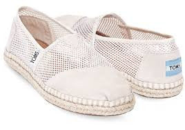 TOMS Ivory Mesh Classics Slip On Casual Espadrille Flats Size 6.5