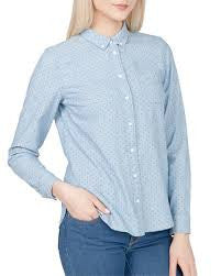 Levi's Womens Blue Modern One Pocket Dove Dot Chambray Size XL - Designer-Find Warehouse - 1