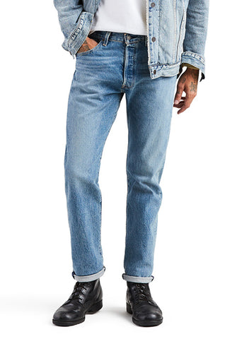 Levi's Mens 505 1765 Regular Fit Straight Leg Medium Denim Jeans 30 x 34