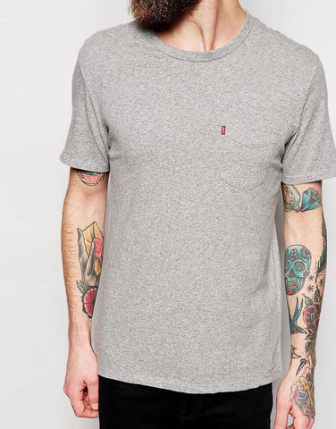 Levi's Mens Heather Gray Sunset Pocket Tee T-Shirt Size XL - Designer-Find Warehouse