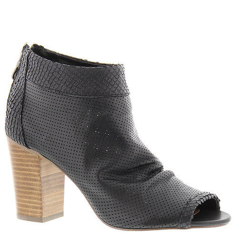 Steven By Steve Madden Black Perforated Normandi Peep Toe Booties Size 9.5 - Designer-Find Warehouse - 1