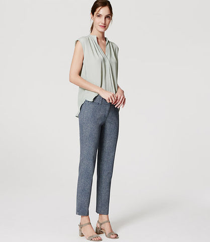Ann Taylor LOFT Flecked Riviera Cropped Pants In Marisa Fit Size 2 Petite - Designer-Find Warehouse - 1
