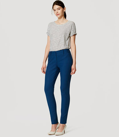 Ann Taylor LOFT Essential Teal Skinny Ankle Pants in Julie Fit Size 10 - Designer-Find Warehouse - 1