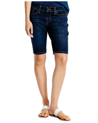 Levi's Womens Hemmed Bermuda Shorts In Cast Shadows Size 27 - Designer-Find Warehouse - 1