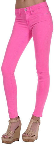 Henry & Belle Jeans Womens Neon Super Skinny Ankle Colored Stretchy Denim Jeans All Sizes - Designer-Find Warehouse - 1