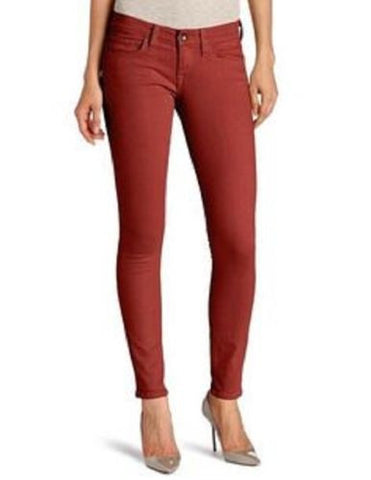 Lucky Brand Womens Canyon Red Charlie Slim Fit Skinny Ankle Denim Jeans Size 6 - Designer-Find Warehouse