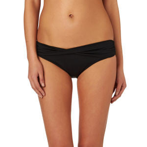 Seafolly Goddess Twist Band Mini Hipster Bikini Bottom Indigo Size 6 - Designer-Find Warehouse - 1